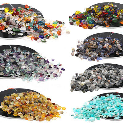 250g Natural Healing Gemstone Chips Tumbled Stone Crystal Quartz Crafts Jewelry