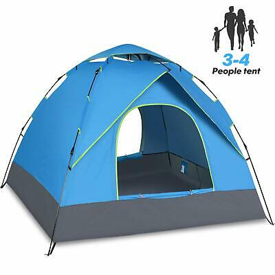 UK 3-4 Person Pop Up Man Tent Double Layer Family Festival Camping Tent Instant