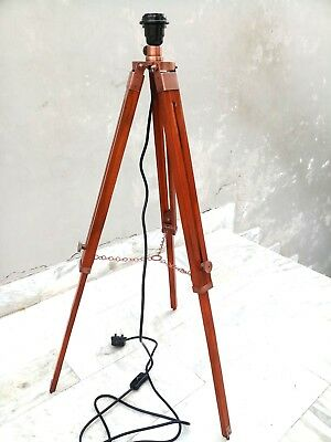 Copper Antique Tripod Lamp Stand Marine Decorative  Item.