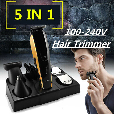 Electric Hair Clipper Face Trimmer Beard Body Shaver Kit Cordless Groomer Set