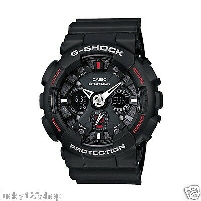 GA-120-1A Black Casio Men's Watches G-Shock Analog Digital 200M Resin Band New