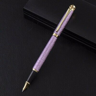 Wing Sung 9120 Frosted Purple Metal Fountain Pen F/0.5mm Nib Converter Students