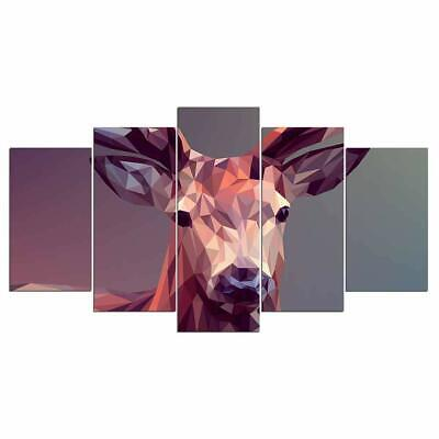 Art HD Print Home Décor Geometric Deer Modern Paintings Wall Poster Picture