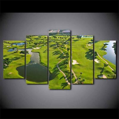 Art HD Print Home Décor Golf Course Modern Paintings Wall Poster Picture