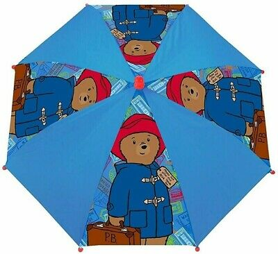 Paddington Bear P.b. Boys Girls Rain Umbrella Kids School Panel Brolly Gift New