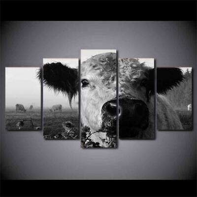 Art HD Print Home Décor Cow Black and White Modern Paintings Wall Poster