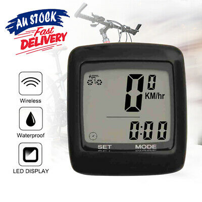 Bicycle Speedometer Digital Waterproof Bike Odometer Computer LCD Cycle