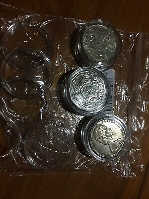 42 mm coin capsules. Qty 5 Free postage. Suit round 1966 round 50c + modern 50c