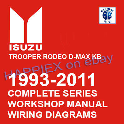 1993-2011 complete isuzu workshop service manual trooper rodeo d-max kb tf