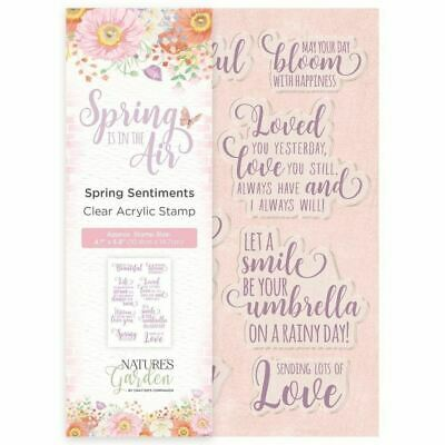 Nature's Garden Spring in the Air Collection - Stamp - Spring Sentiments