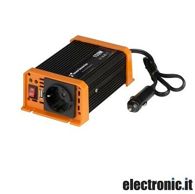 Inverter da auto 12V DC 230V AC 150W con uscita USB All Ride