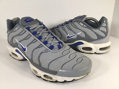 7fdfc12312 Nike Air Max Plus Tn Wolf Grey Blue Black Mens Size 10 Rare 604133-094