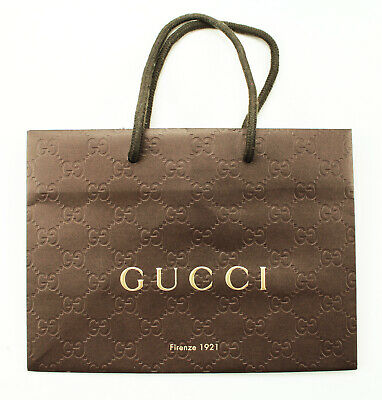 be6ad41eea72 NEW AUTHENTIC GUCCI FIRENZE 1921 BROWN PAPER SHOPPING GIFT BAG SMALL  9x6.5x4.5