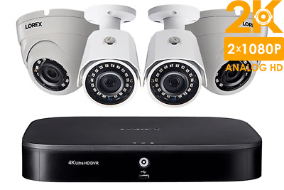 NEW LOREX 4 Camera 2K 1TB HD Metal Security System NIGHTVISION 2 YR