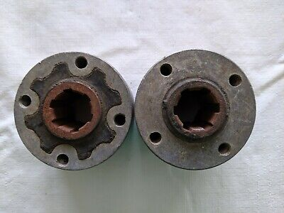 Brand New Vintage Fiat 500 N and D Flexible Joint 6 Spline Set of 2