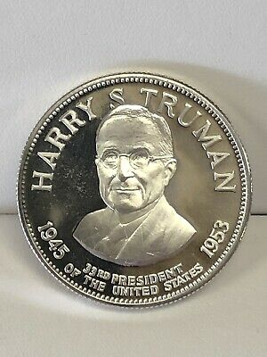 Truman Silver Medal The 33rd President Of The Us W/ Info On The Rev. Medals Harry S