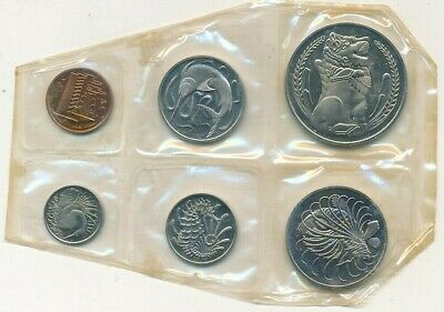 1967 Singapore 6-Coin Uncirculated Set-Still Originally Sealed! Box-Ships Free!
