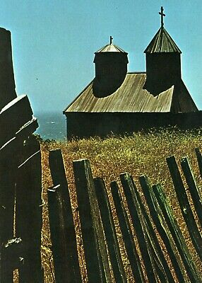 Vintage 1969 FORT ROSS CHURCH Postcard Fort Ross, California