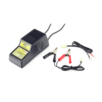BikeTek Pro-3 Battery Charger 3 Pin 12V 1A - Male Connector Block motorcycle atv