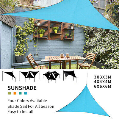 5f7cad5dca3e New Sun Shade Sail Patio Outdoor Canopy UV Block Top Cover Triangle Square  New