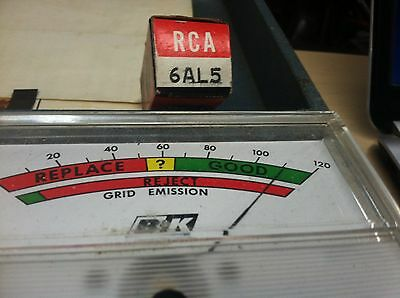 RCA Electron Tube 6AL5 New Old Stock Antique Radio Tested Set of 5