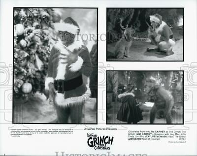 """2000 Press Photo Jim Carrey Taylor Momsen """"How The Grince Stole Christmas"""""""
