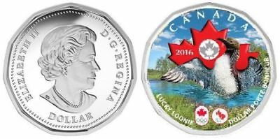 CANADA 2016 Olympic & paralympic  Games Loonie Plated Silver
