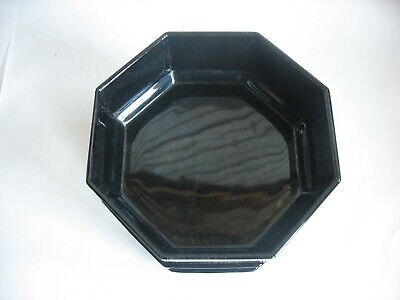 "Set of 4 Arcoroc France Octime Black 5 5/8"" Salad / Cereal Bowls GLASS"