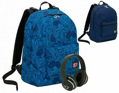 Zaino Scuola SEVEN Reversibile THE DOUBLE FLAME+CUFFIE WIRELESS 2020 + Omaggio