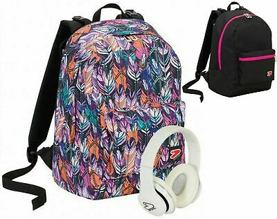 Zaino Scuola SEVEN Reversibile THE DOUBLE PLUME Girl 2020 + cuffie w + 3Maxiq