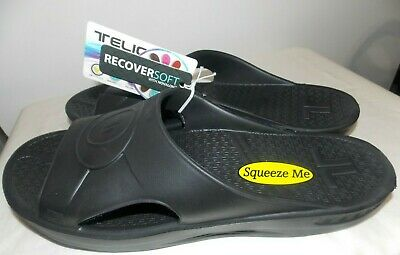 Telic Slide Soft Orthotic Supportive Recovery Sandal - Size 10 (L) - Black -$45