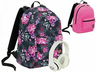 Zaino Scuola SEVEN Reversibile THE DOUBLE QUEEN CROWN + cuffie w + 3Maxiq