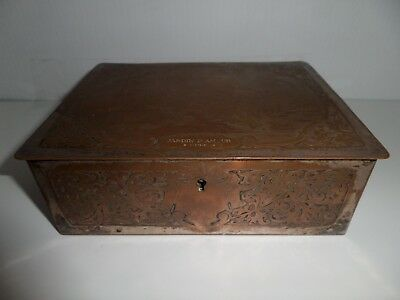 Rare Hand Made Stamped WMF German Repousse Box With Lock P. Gasson Sculpt
