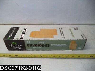 QTY=500: 50162 Quality Park #1 Coin and Small Parts Envelope with Gummed Flap