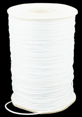 WHITE Polyester Waxed Cord Thread DIY Necklace Bracelet Jewellery Beading String