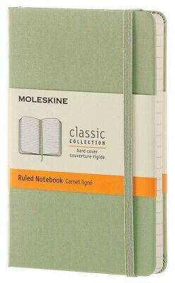 New Moleskine Classic Pocket Ruled Hardcover Notebook Willow Green 3.5 x 5.5