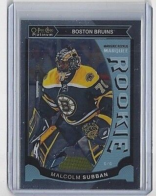 2015-16 Malcolm Subban O-Pee-Chee Platinum Marquee Rookie Card #M-5