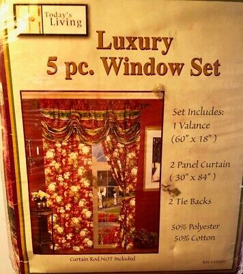 Luxury  5 Pc. Window Set Floral