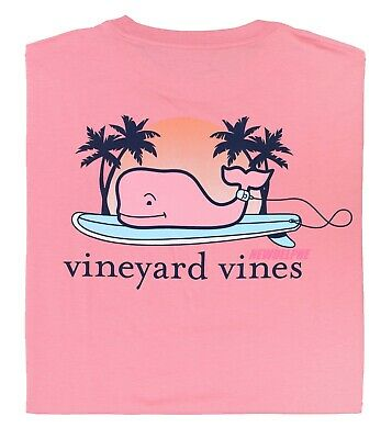 "NWT Vineyard Vines Men SS Whale Pocket Crew T-Shirt Tee ""WHALE SURFBOARD"""