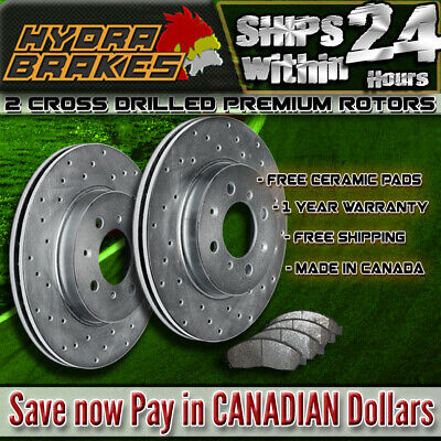 FITS 2007 2008 2009 2010 2011 AUDI Q7 Drilled  Brake Rotors CERAMIC F