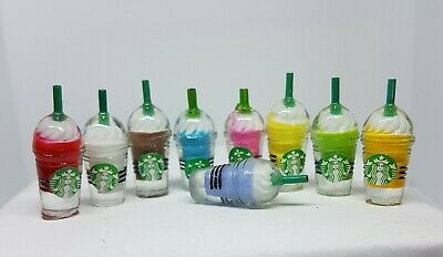 Coles Little Shop Mini Collectables - Mini Starbucks Drinking Containers