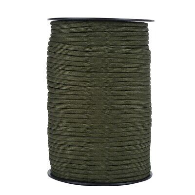 100M 550 Paracord Parachute Cord Lanyard Mil Spec Type III 9 Strand Core Green