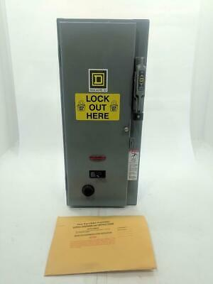 Square D 8538 SBG-13 30A Combination Starter Fused Disconnect Size 0