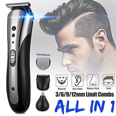 Electric Hair Clipper Trimmer Comb Beard Body Shaver Grooming Kit Cordless Razor