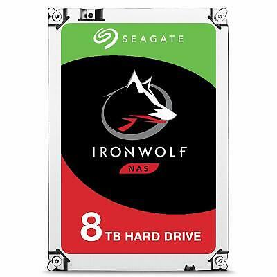 "Seagate 8TB IronWolf 3.5"" SATA Internal NAS Hard Drive HDD 7200RPM 256MB Cache"
