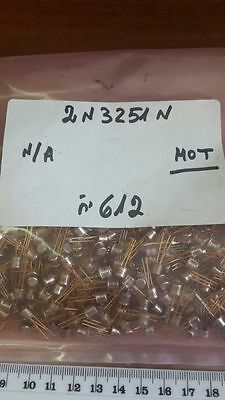 2N3251A Transistor GP BJT PNP 60V 0.2A 3-Pin TO-18  New MFR BSC 10 PC LOT