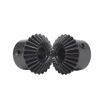 1 Mod Bevel Gear 20T/25T/30T Bore 5-12mm 90°1:1 Pairing Metal Transmission Gear