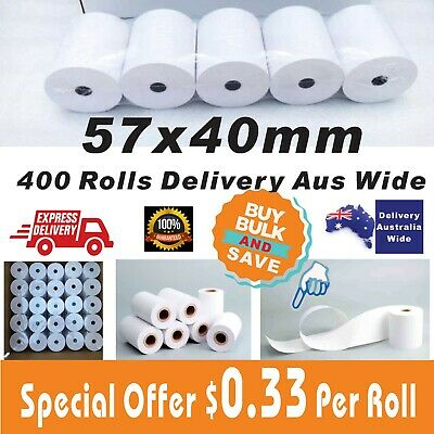57x40mm Thermal Paper Rolls EFTPOS Cash Register Receipt Fast Delivery All Area