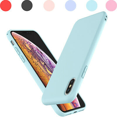 For iPhone X/XR/Xs Max Liquid Silicone Case And Tempered Glass Screen Protector