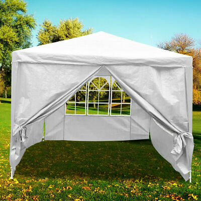 4 x 3m Tent Outdoor Marquee Waterproof Gazebo Garden Party Canopy Hiking Camping